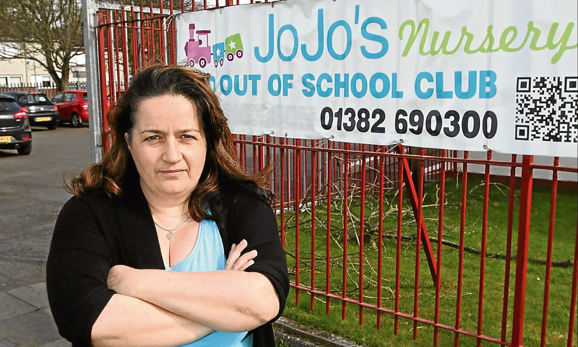 Jo Slater pictured outside the nursery she owns.