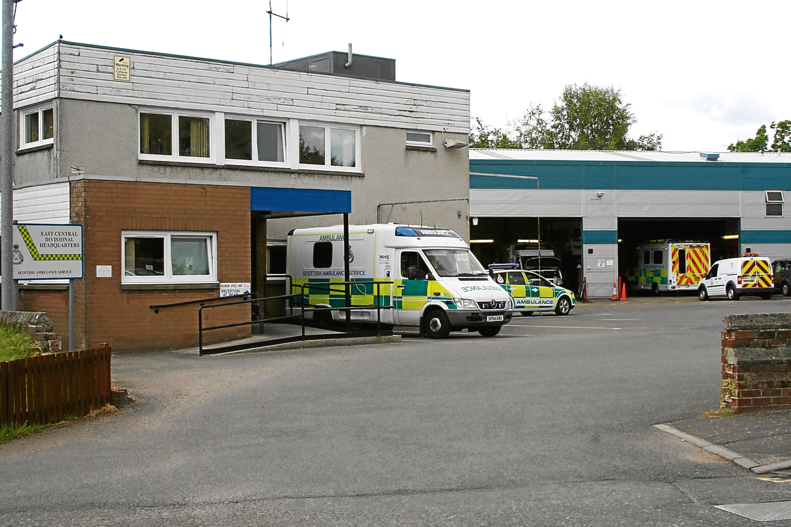 The Scottish Ambulance Service depot in West School Road, Dundee
