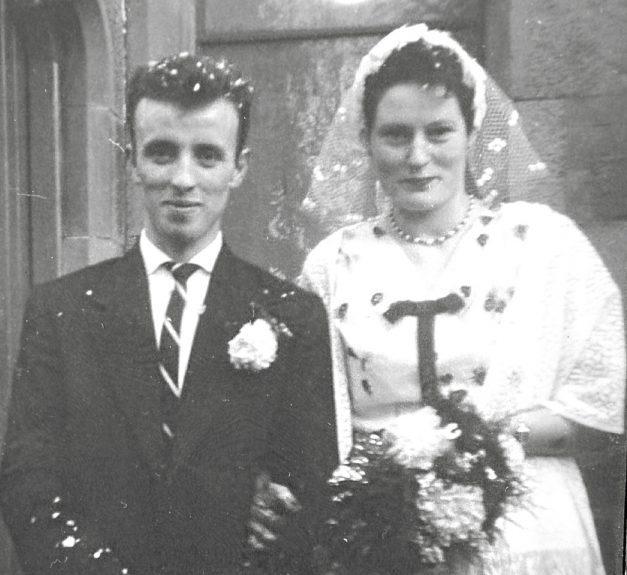 Tam with Barbara on their wedding day.