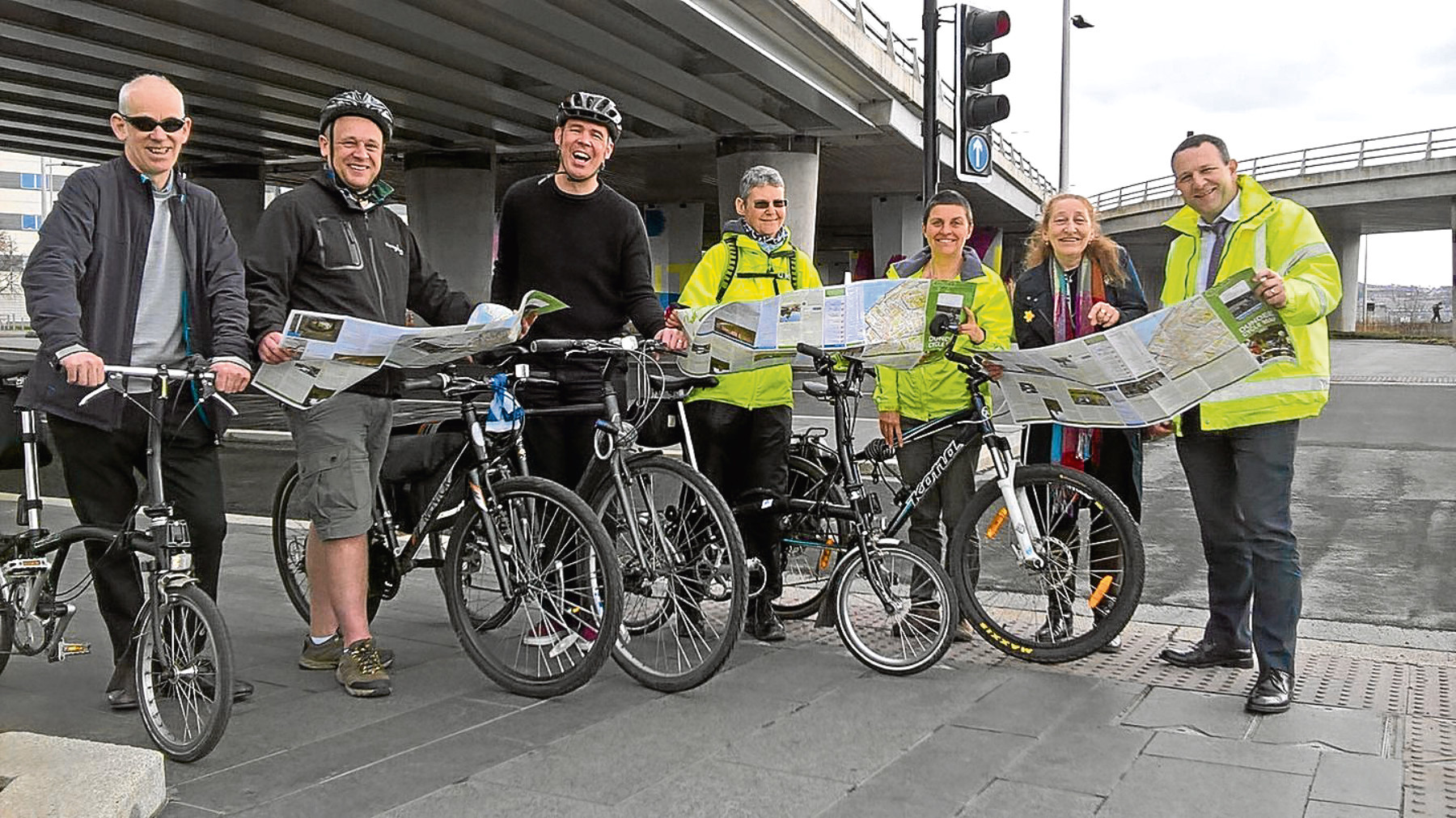 The launch of the new Dundee cycling map, which includes information on 20mph zones and suggestions for leisure rides throughout the city.