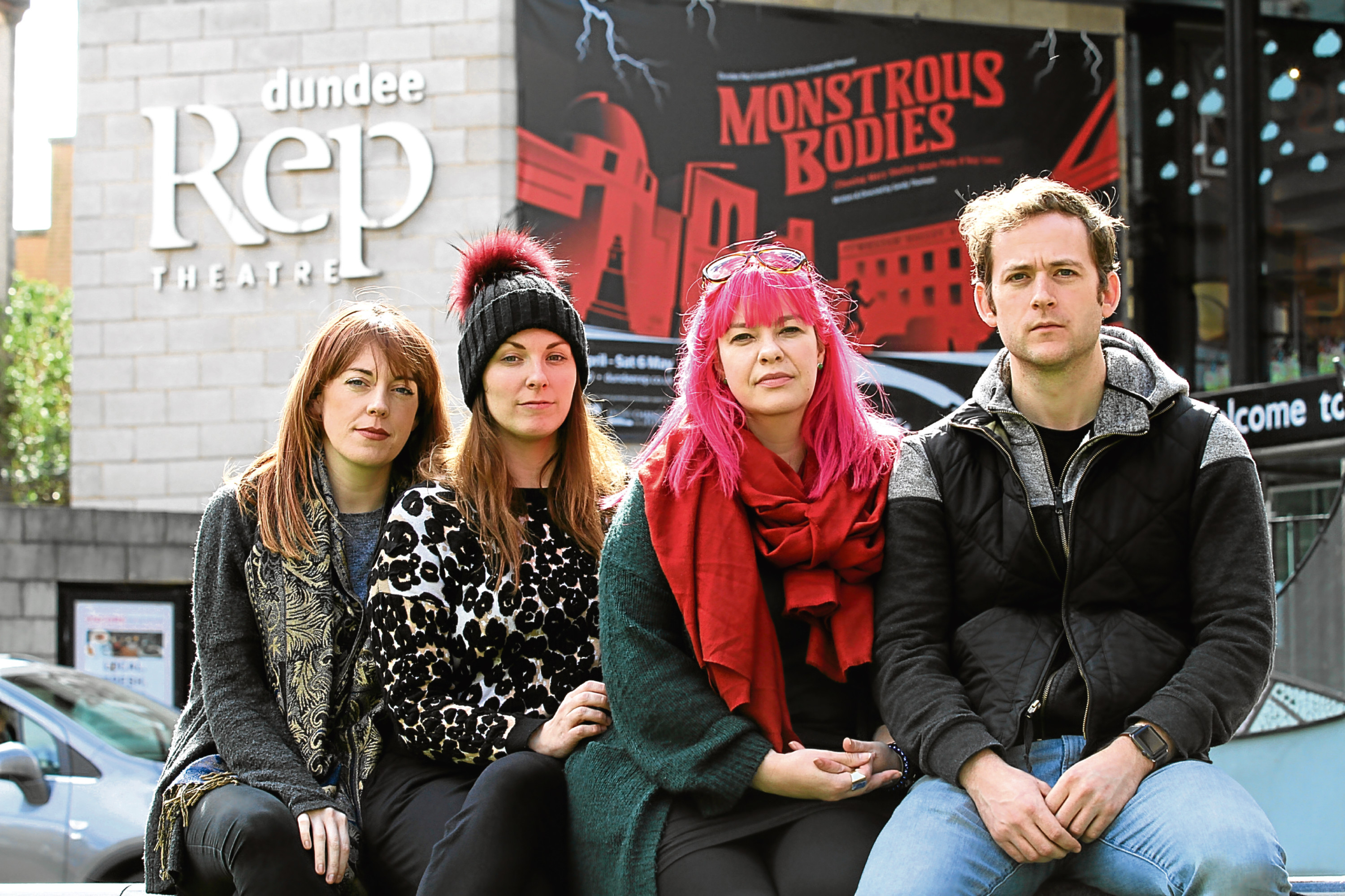 Actors, from left: Jennifer Bates, Eilidh McCormick, Elaine Stirrat and Jeremiah Reynolds.