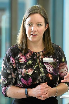 Courier News. Rob McLaren Story. Brechin Community Campus was officially opened by John Swinney MSP, Secretary for Education today. Picture shows; Kirsty Hunter, Chief Executive of Angus Alive, Friday, 16th December, 2016.