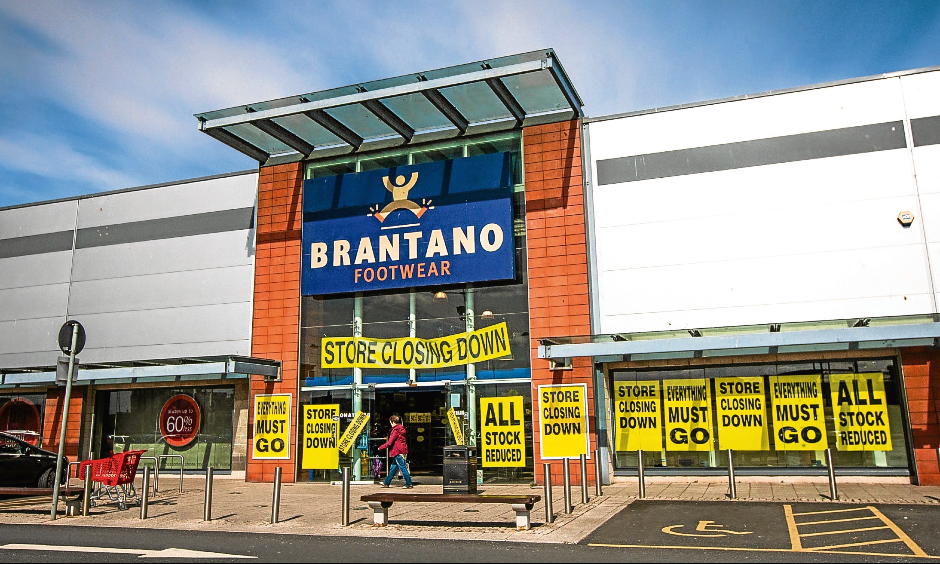 The Brantano shop with signs warning of its impending closure