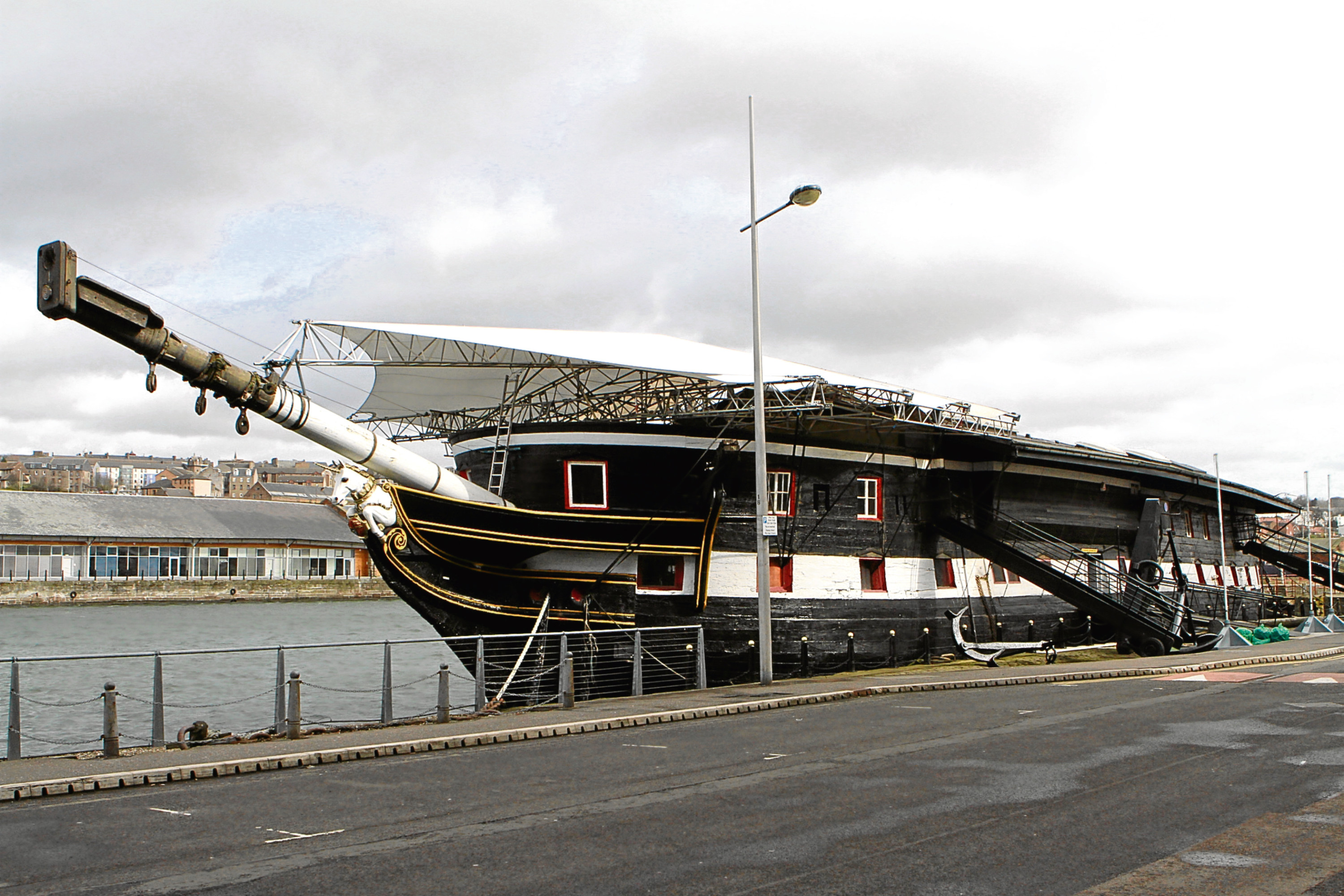 Part of the film is shot at the Frigate Unicorn