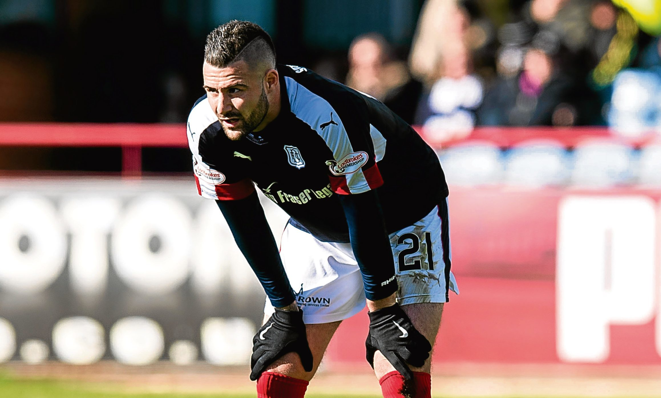 Questions have been raised over Marcus Haber's future at Dundee