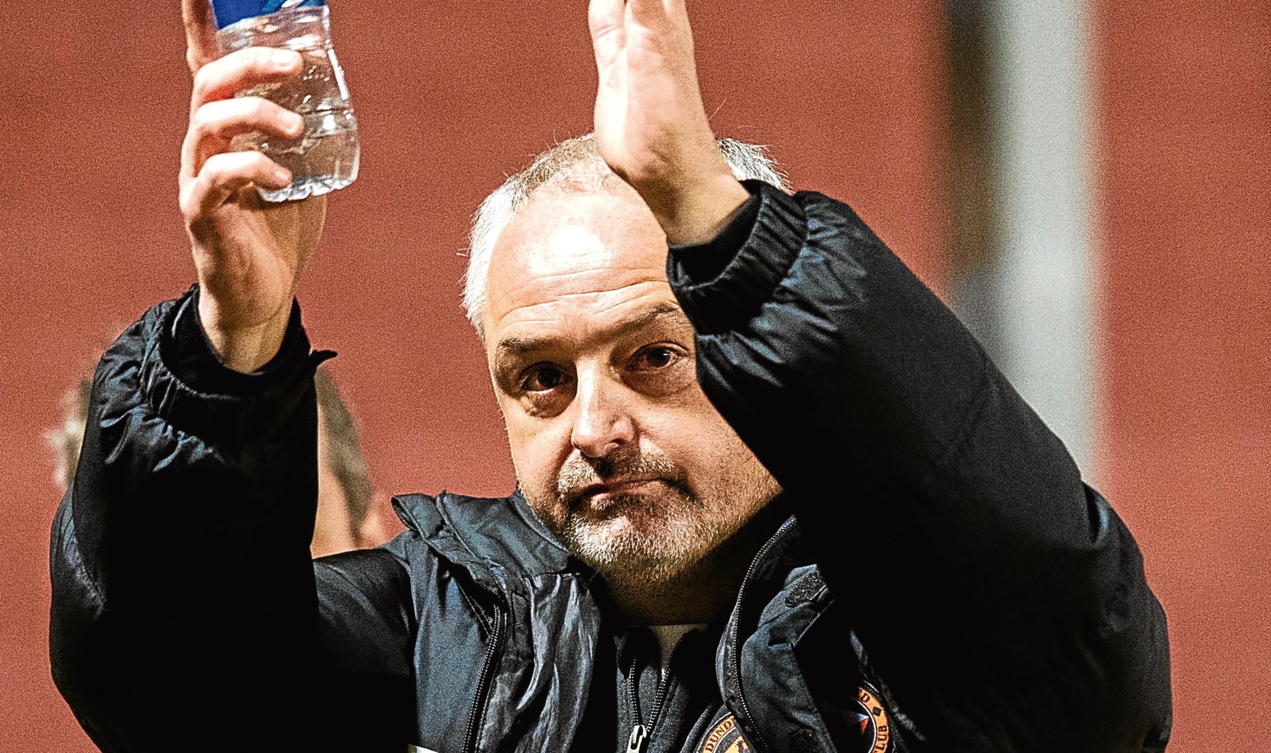 Dundee United manager Ray McKinnon at full-time.