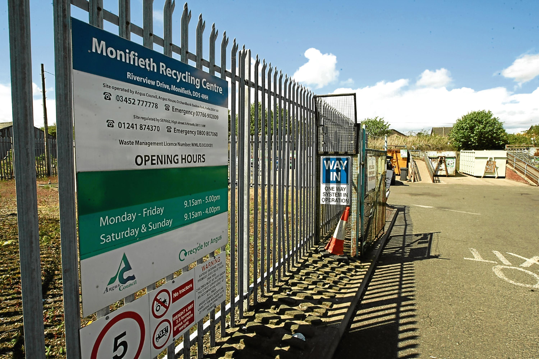 Monifieth Recycling Centre.