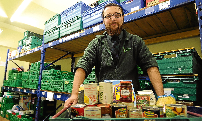 Ewan Gurr at Dundee Foodbank