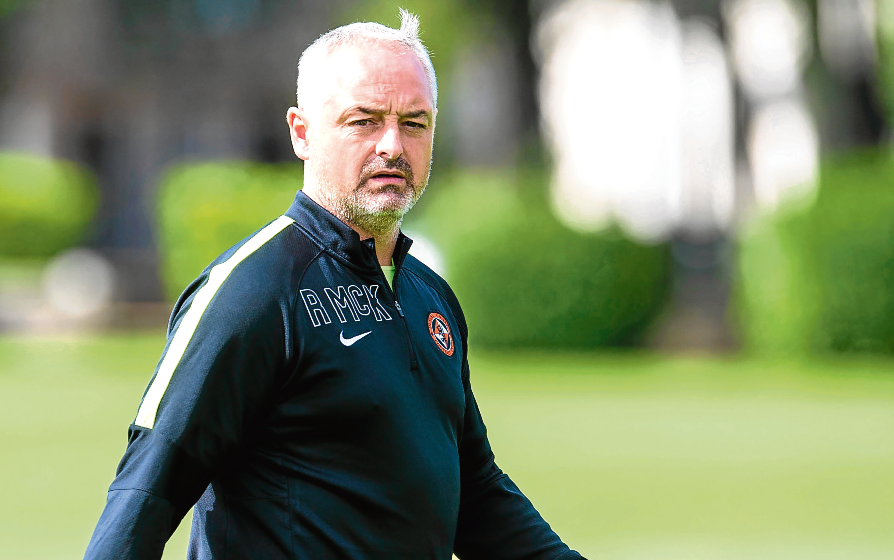 Dundee United boss Ray McKinnon could lead his side into action against Dundee next season