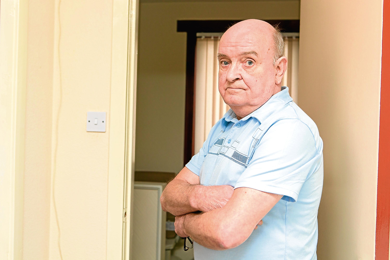 Ian Fenton in his Arbroath home