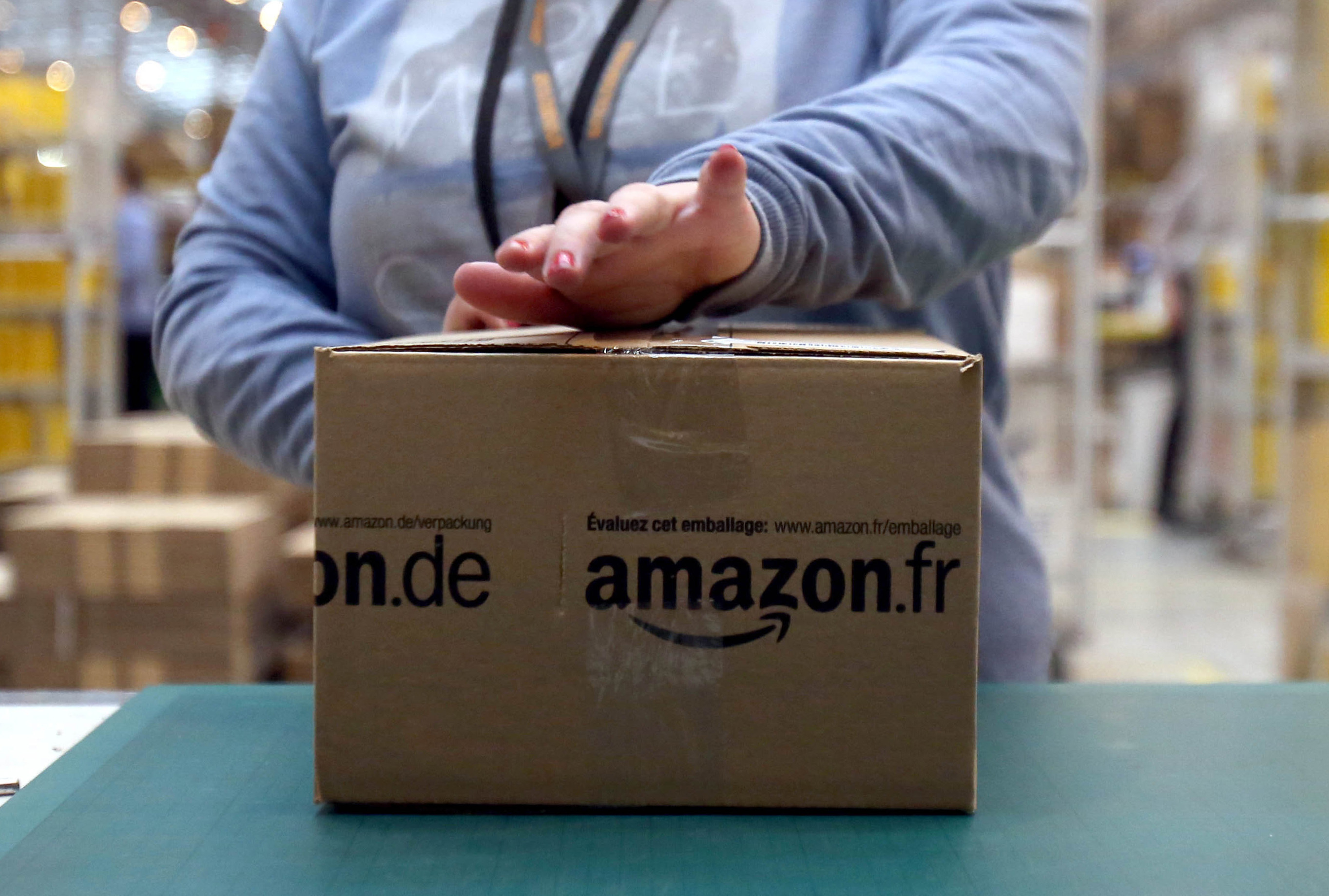 Amazon has said it is supporting the worker.