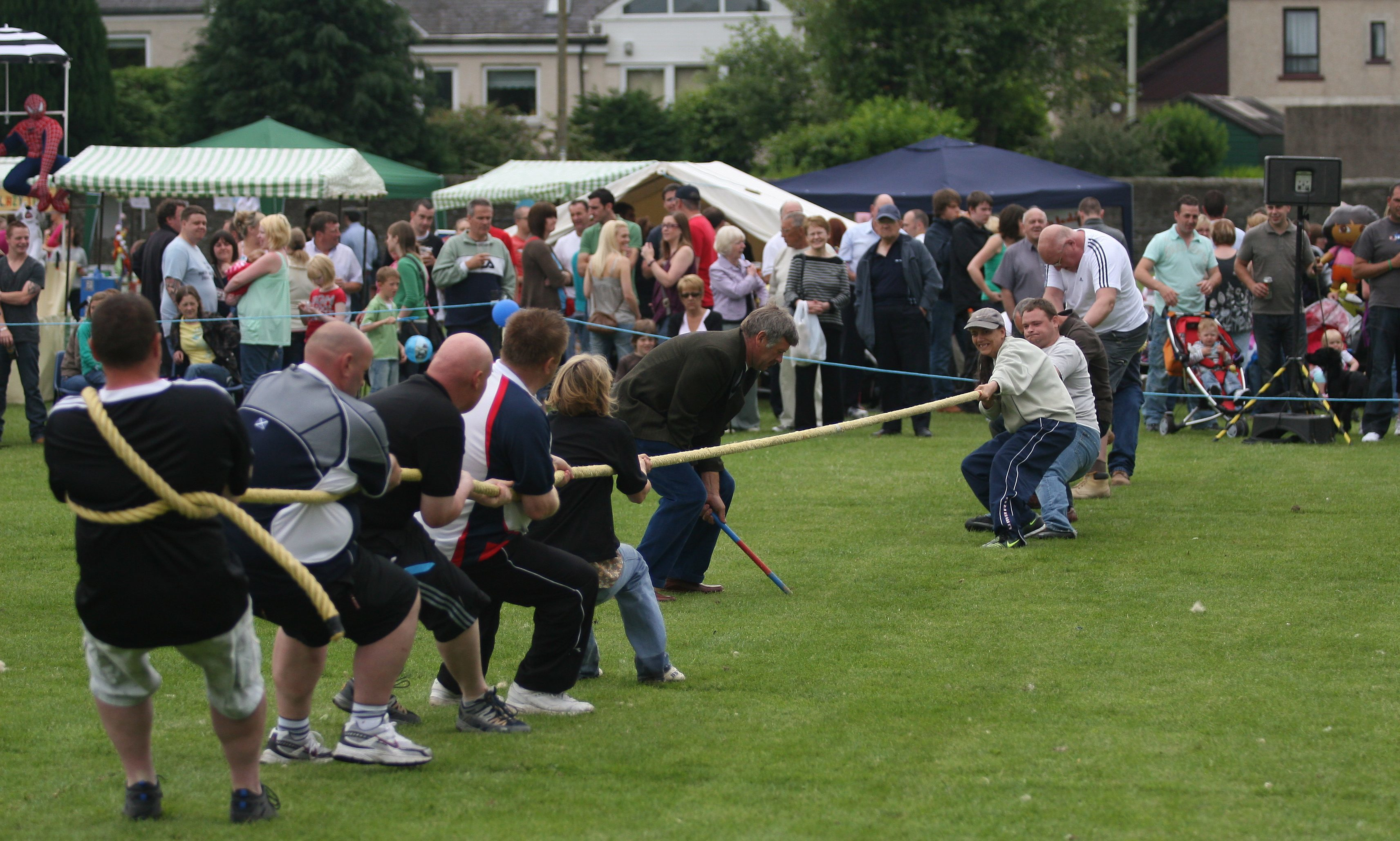 Action from the tug of war at Gala day in 2009, the final part of Gala week in Forfar