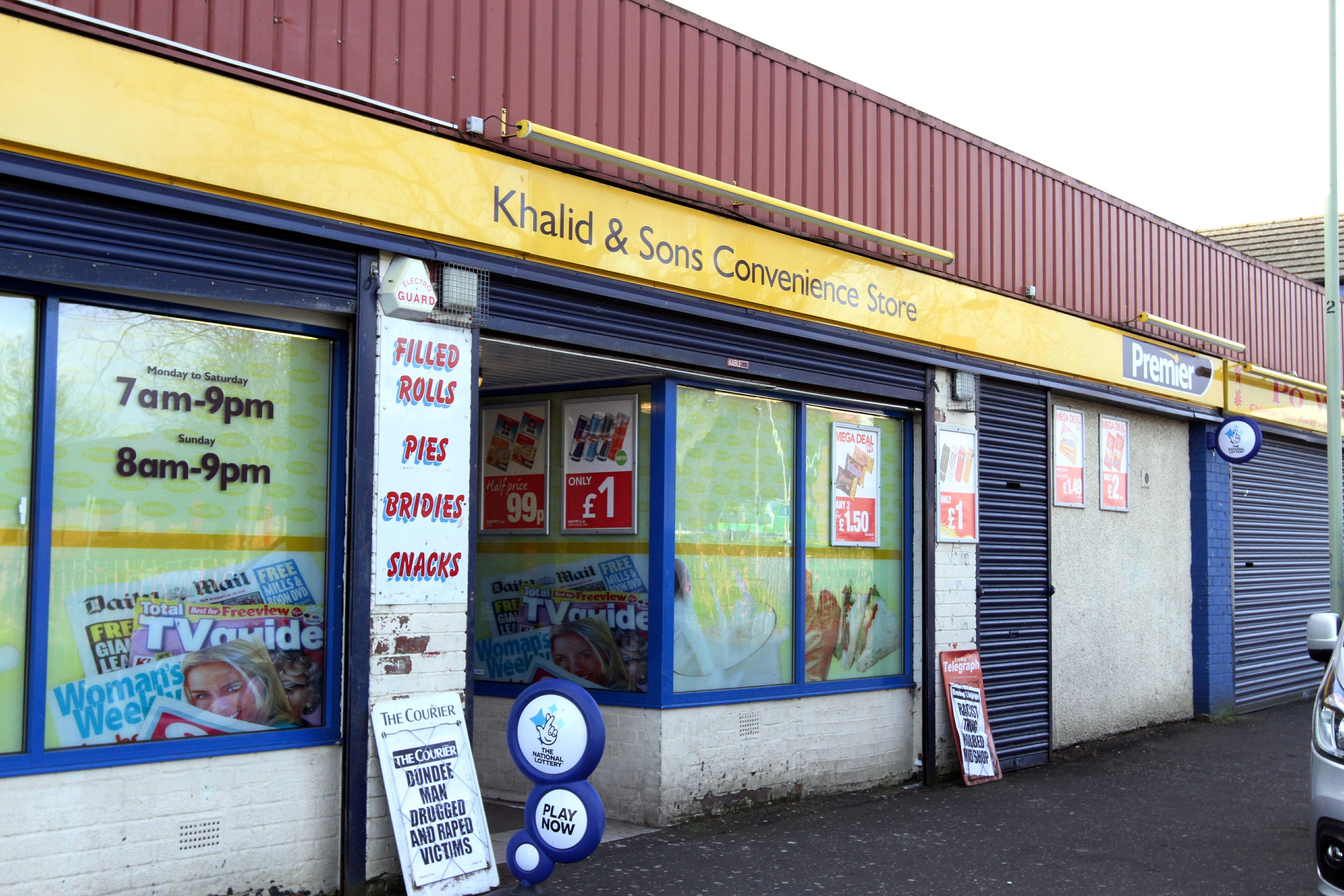 The Khalid Convenience Store in Mid Craigie