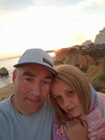 Janusz Waclaw with wife Ewa