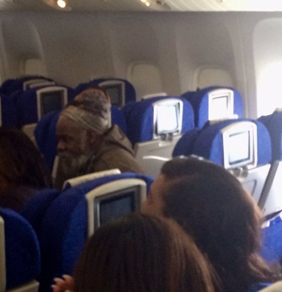 Kwame Bantu on the plane
