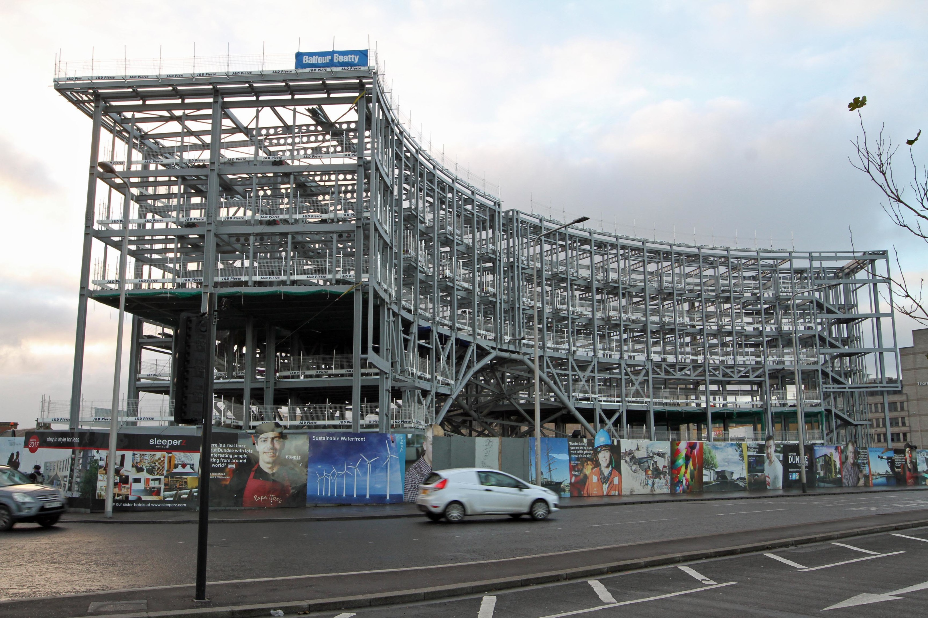 Work is progressing on Dundee station
