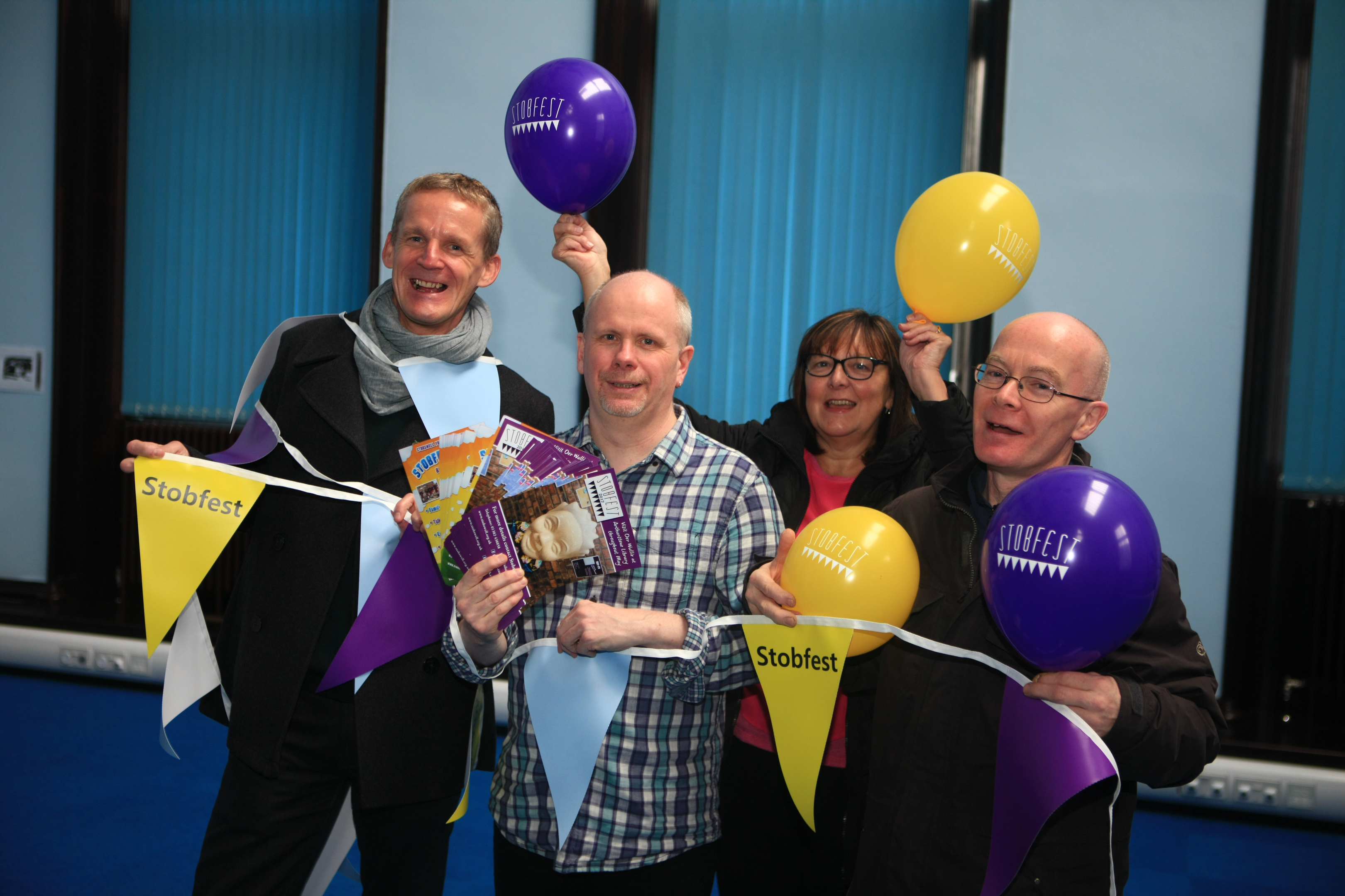 Some of the Stobsfest organisers: Colin Clement, Stuart Fairweather, Lorraine Clement and Duncan McCabe