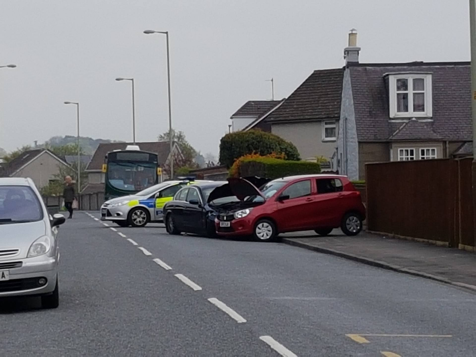 The scene of the crash on Strathmore Street