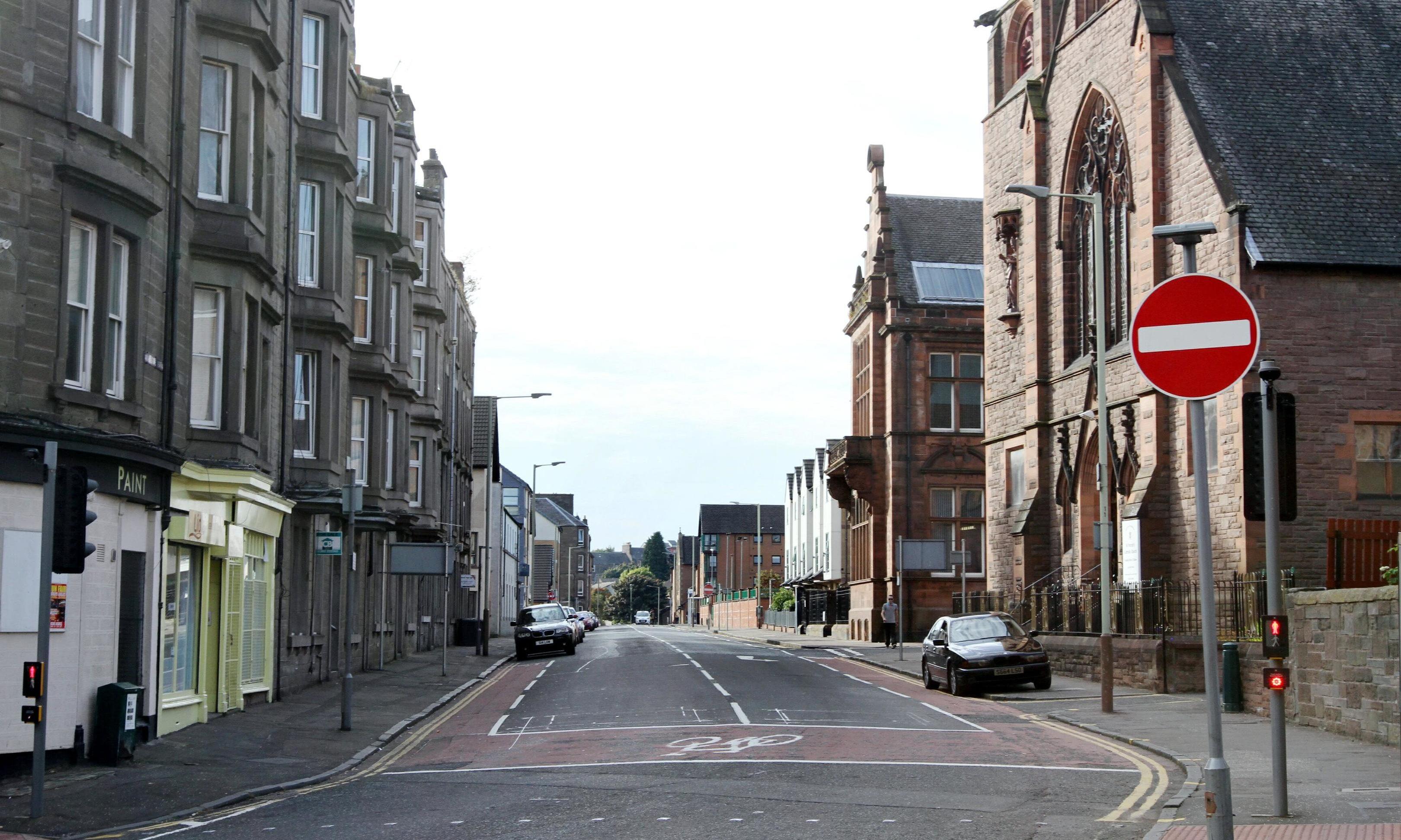 The junction of Arthurstone Terrace and Albert Street.