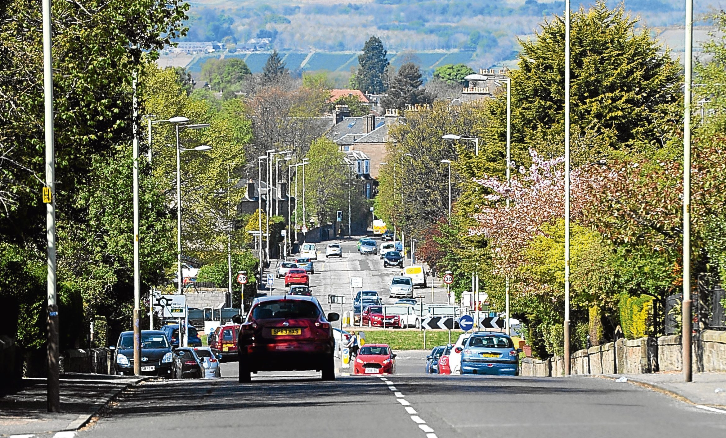 Looking north along Strathmartine Road from the Park Road junction (stock image)