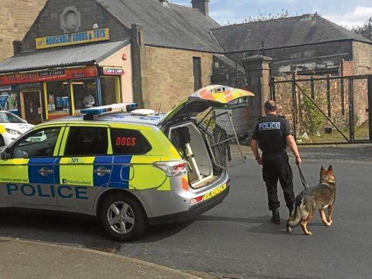 Police on Dundonald Street today
