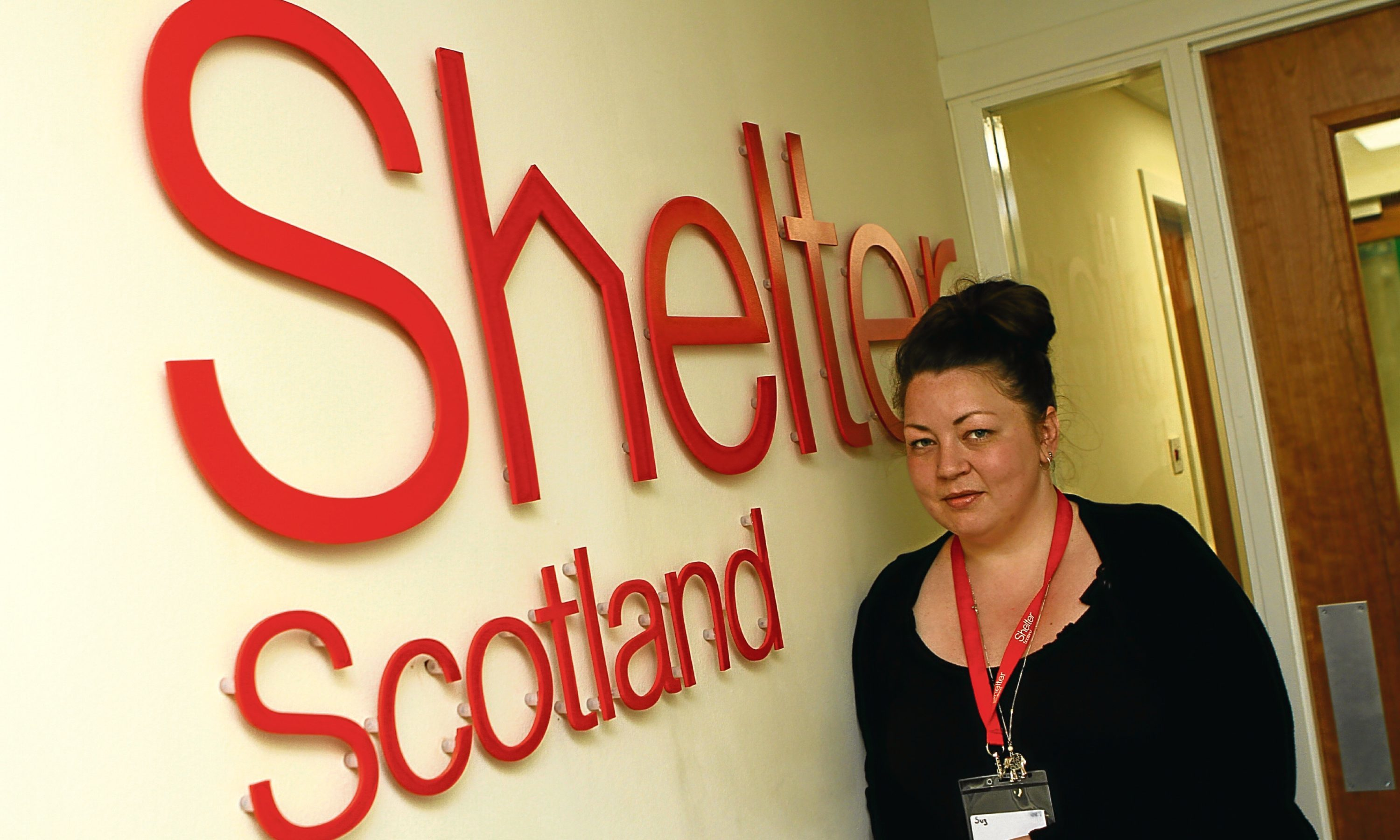 Volunteer Suzanne Sime at the Shelter offices in Dundee