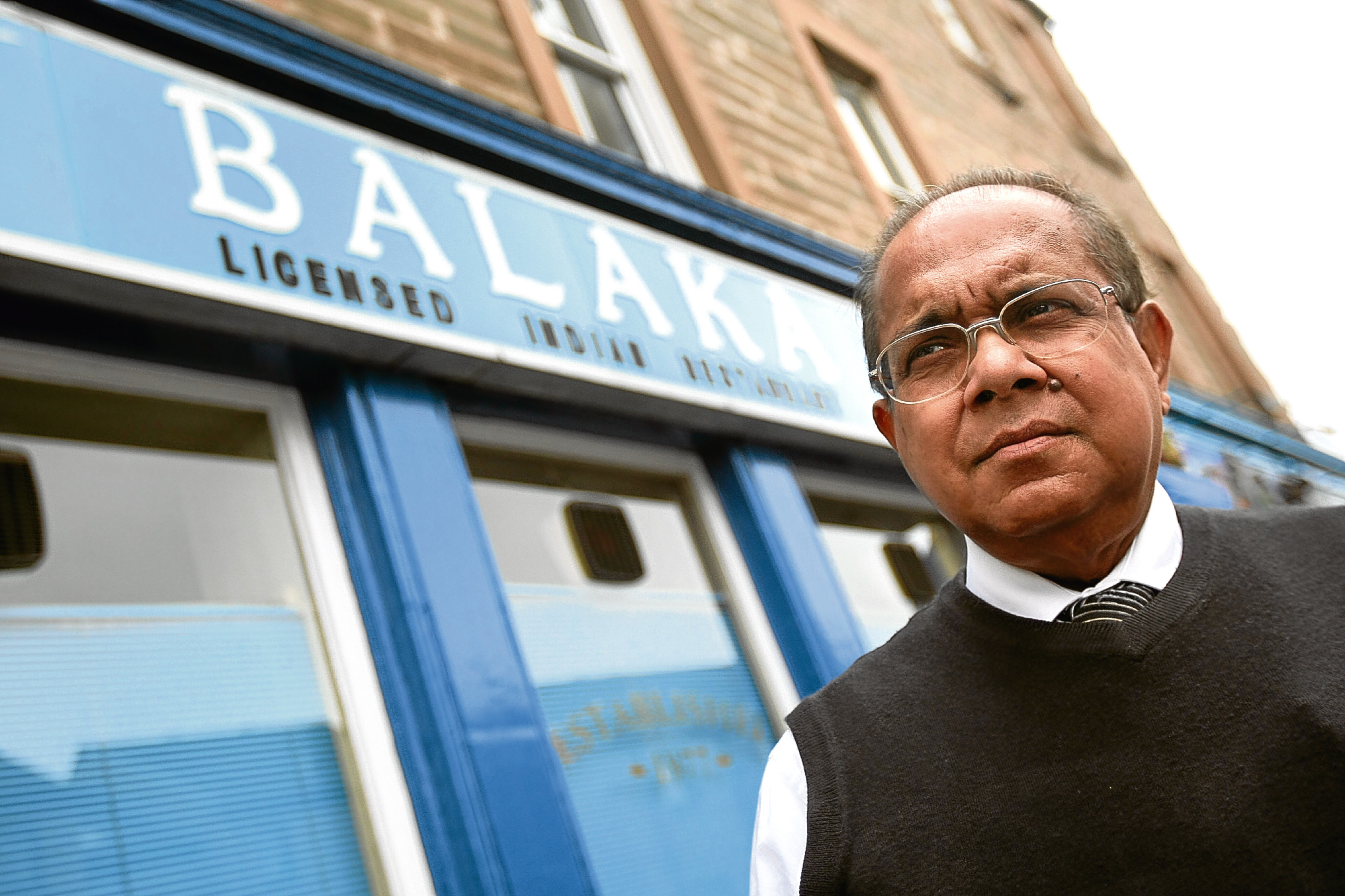 Samsur Rahman, owner of the Balaka Indian restaurant in Perth Road, which is celebrating its 40th anniversary.