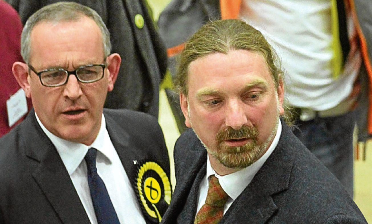 Stewart Hosie (left) and Chris Law.