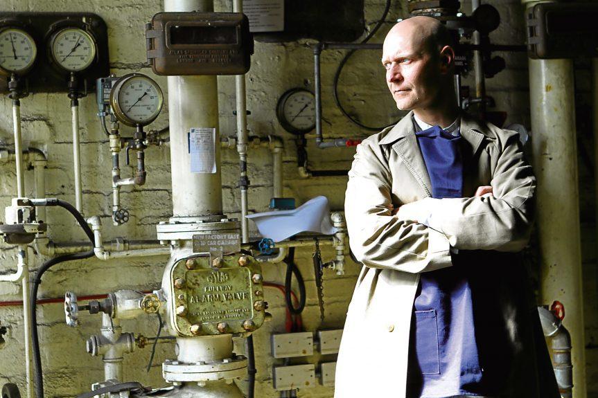 Dundee Design Festival producer Siôn Parkinson at West Ward Works.
