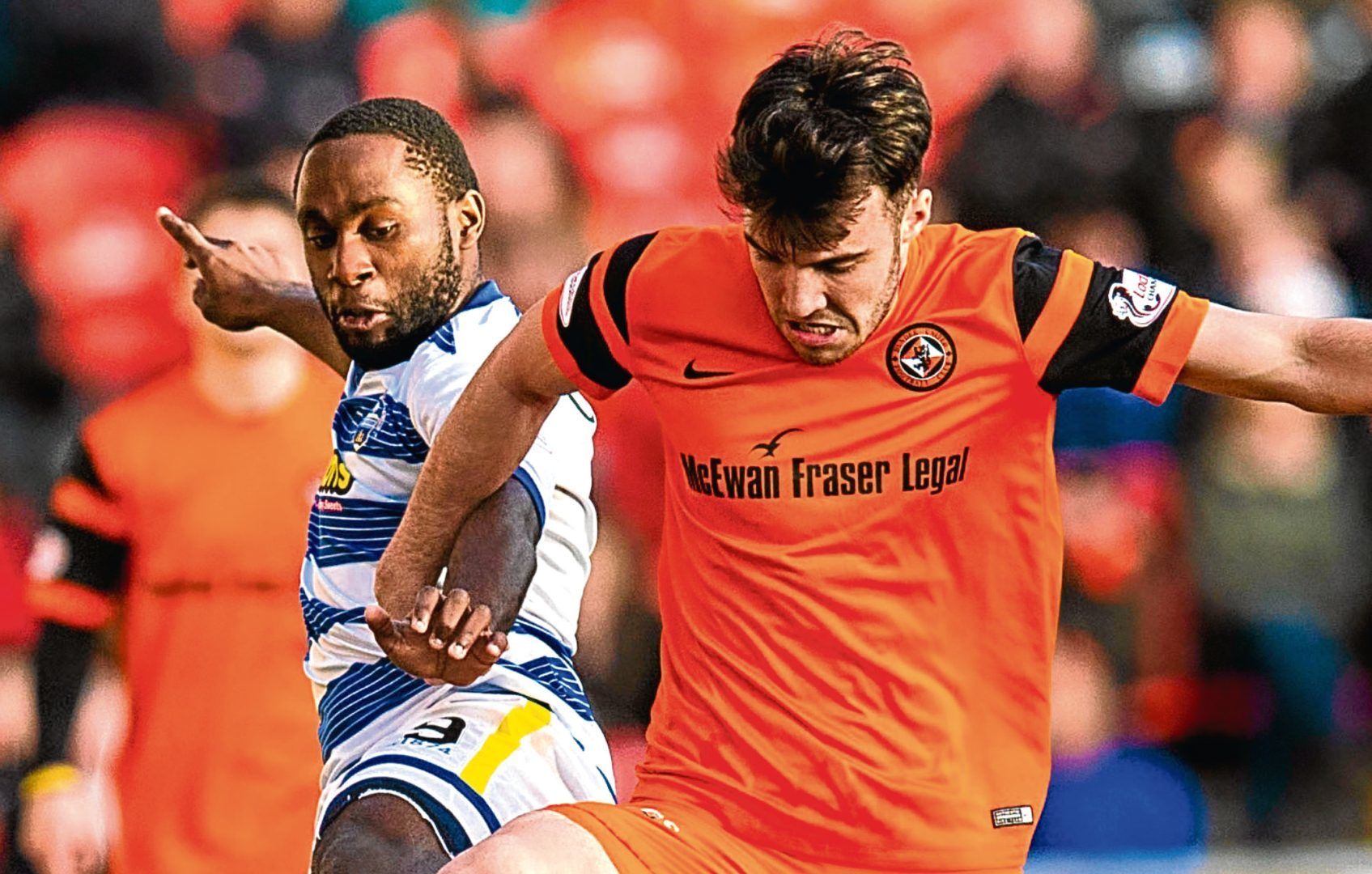 Dundee United midfielder Scott Fraser has been given the all clear after fears                   he'd broken his foot for the second time after coming off injured in Friday night's 2-1 win at Falkirk.