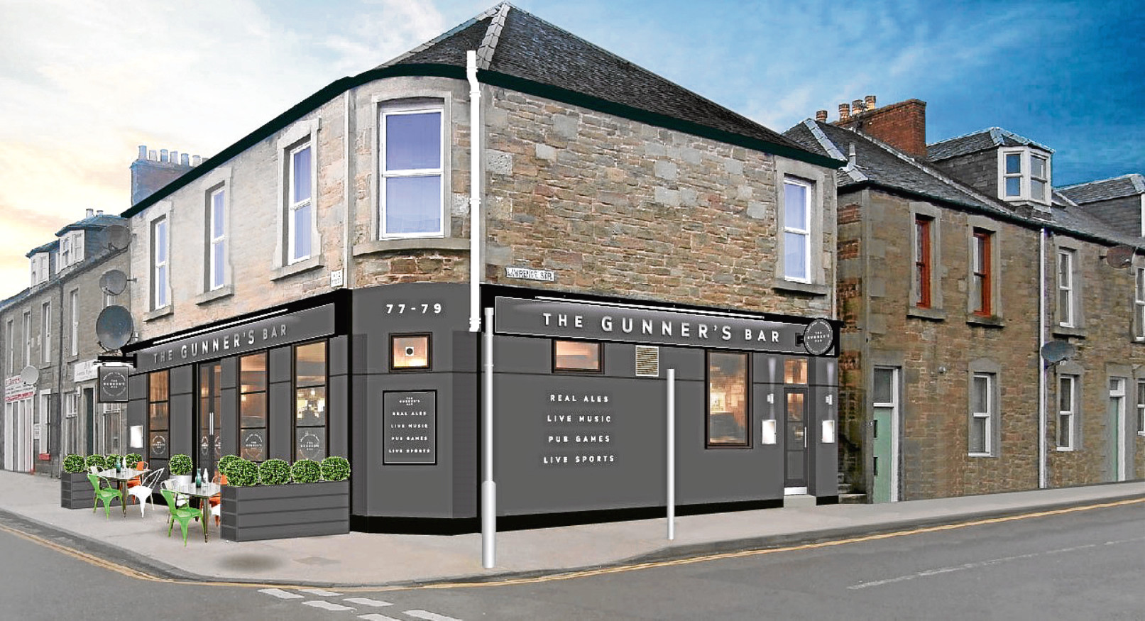An artist's impression of how the revamped Gunner's Bar in Broughty Ferry will look.