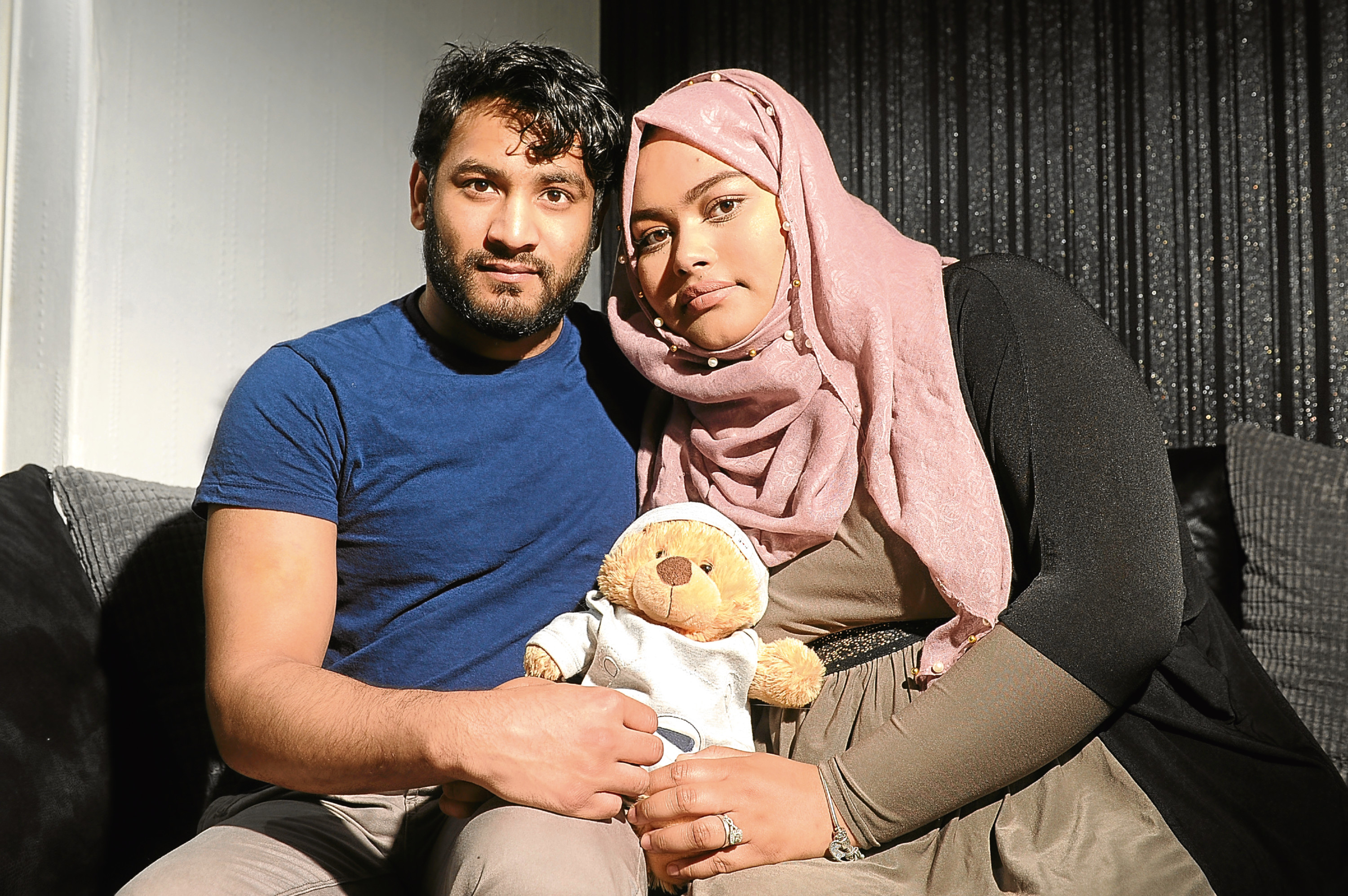 """Palash and Razia are aiming to raise funds to buy a """"cuddle cot"""" for the Tulip Suite at Ninewells."""