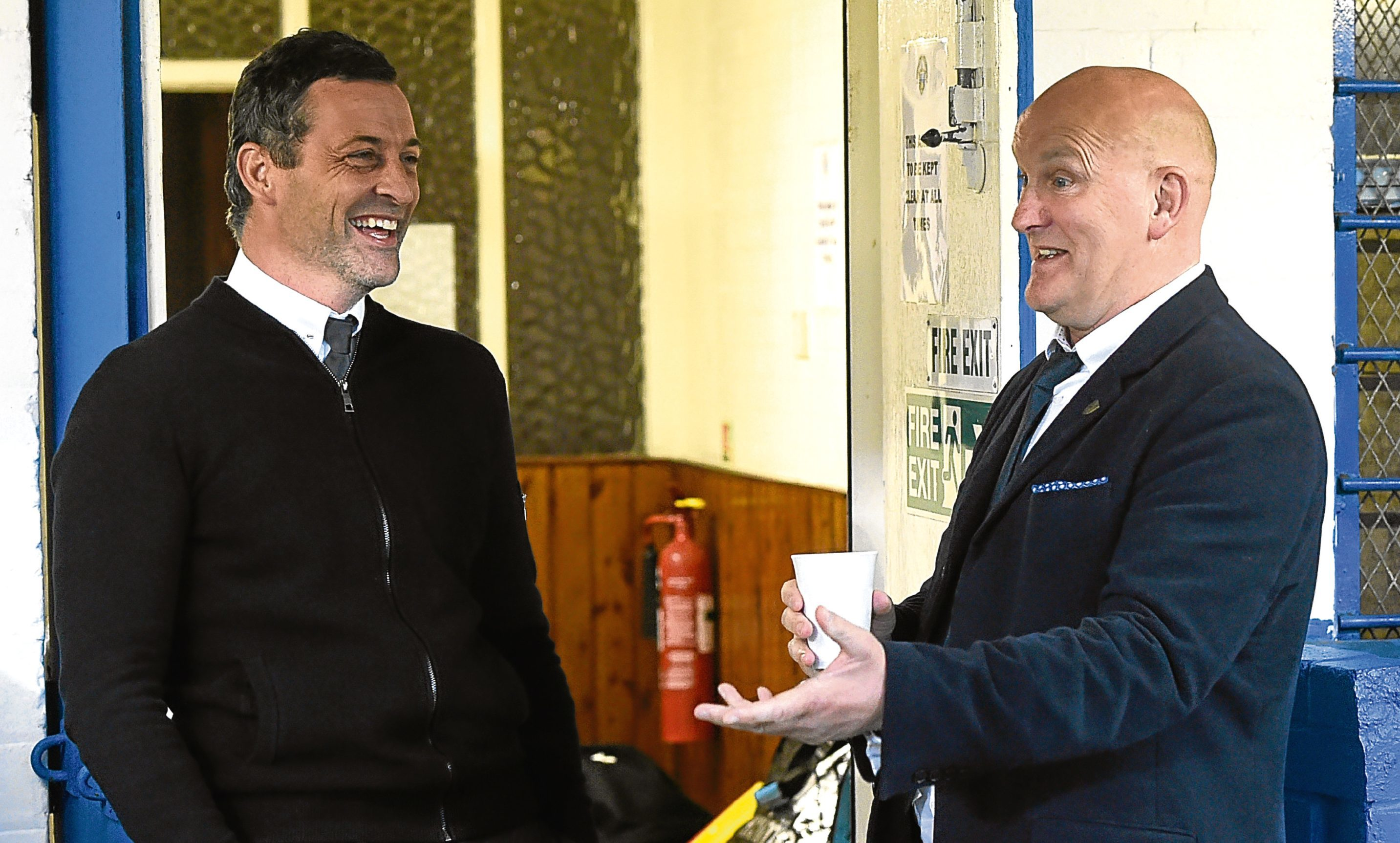 Jack Ross (left) is listed as the bookies' favourite to take the hotseat at Dens, with names like former Dark Blues boss Jim Duffy also being touted.
