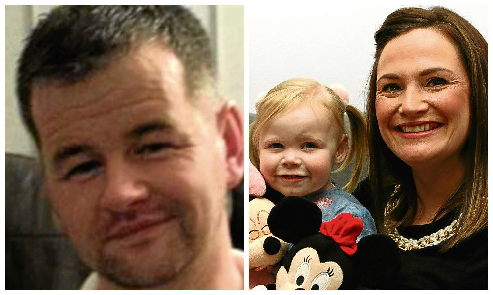 Andrew Gibb (left) has donated his work bonus to send Zoe Doogan, with mum Elaine, on a trip to Disney World