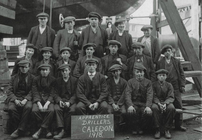 Caledon workers striking in 1918
