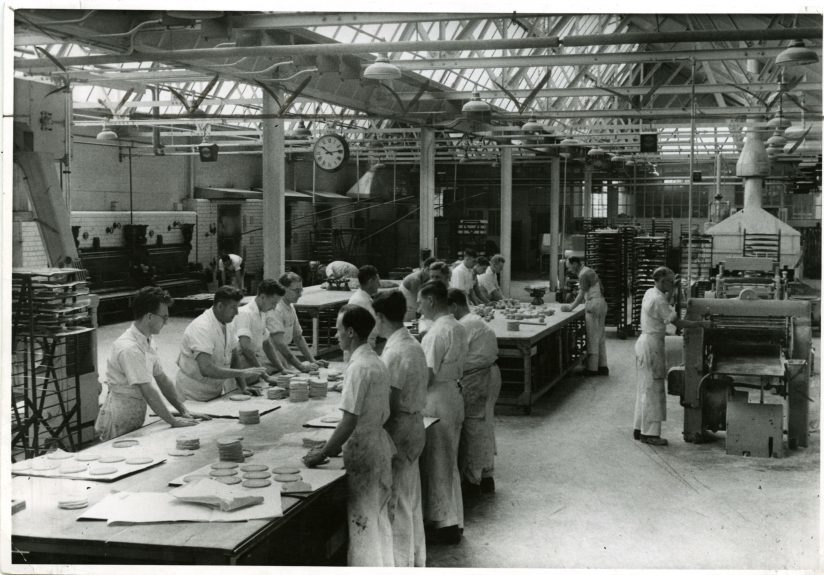 The bakery at Keiller's in 1950