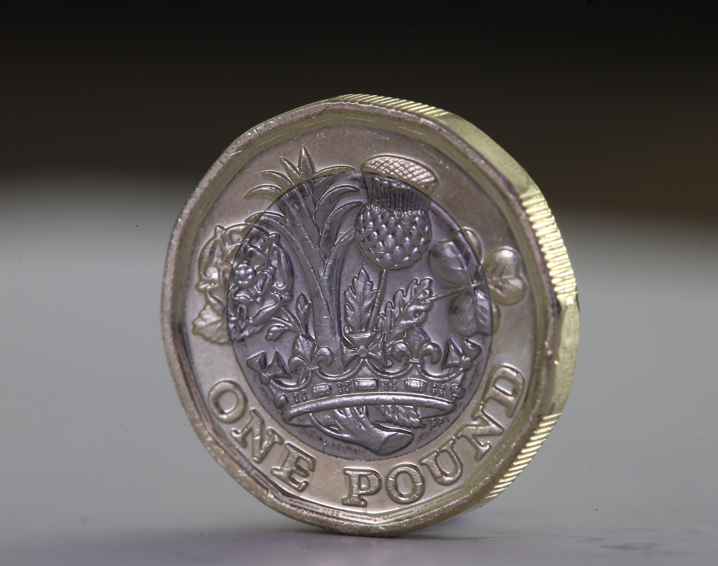 A new one pound coin.