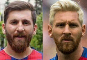 Reza Parastesh (left) and Lionel Messi (photo: Fifa World Cup/PA)