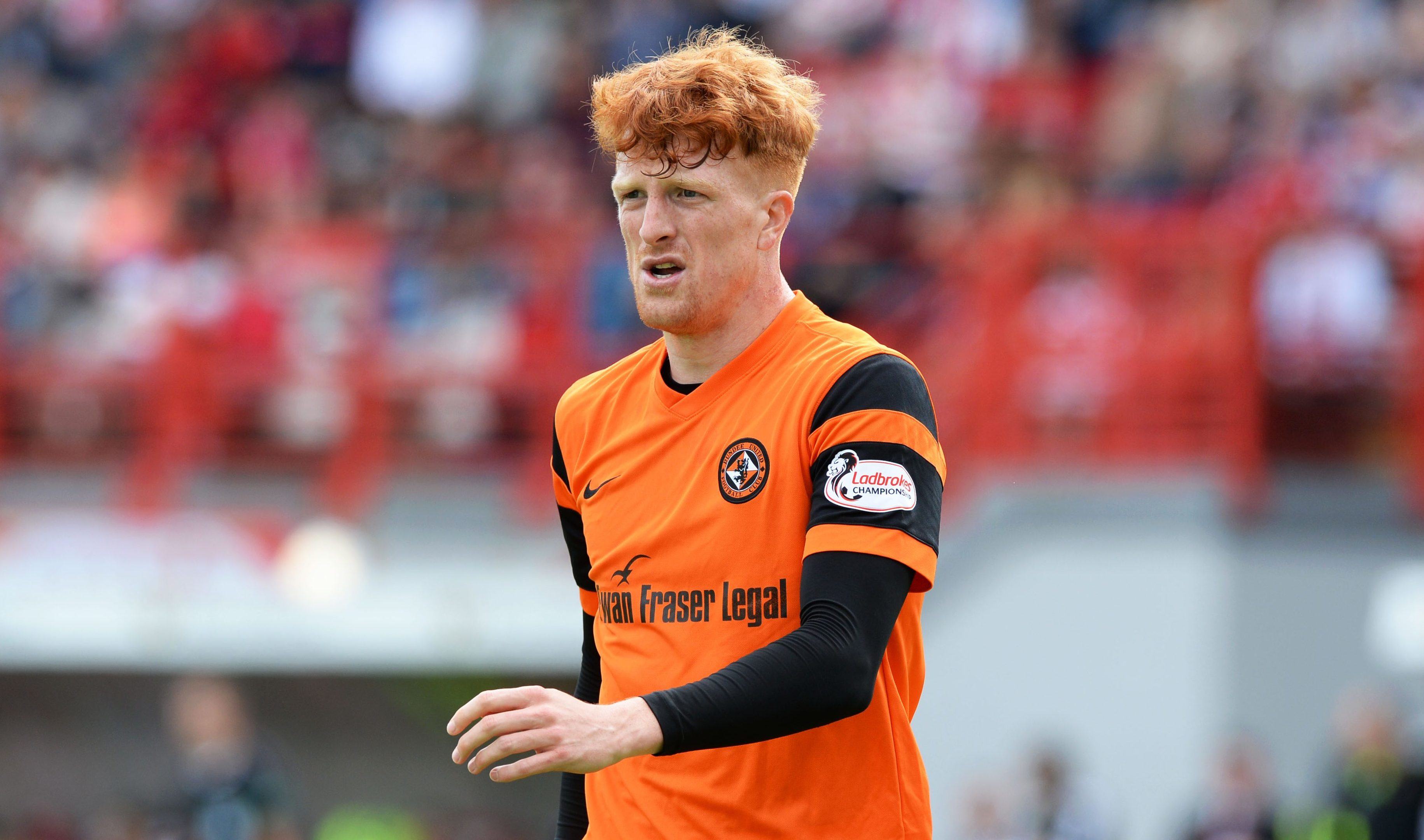 Simon Murray during yesterday's game at the Superseal Stadium