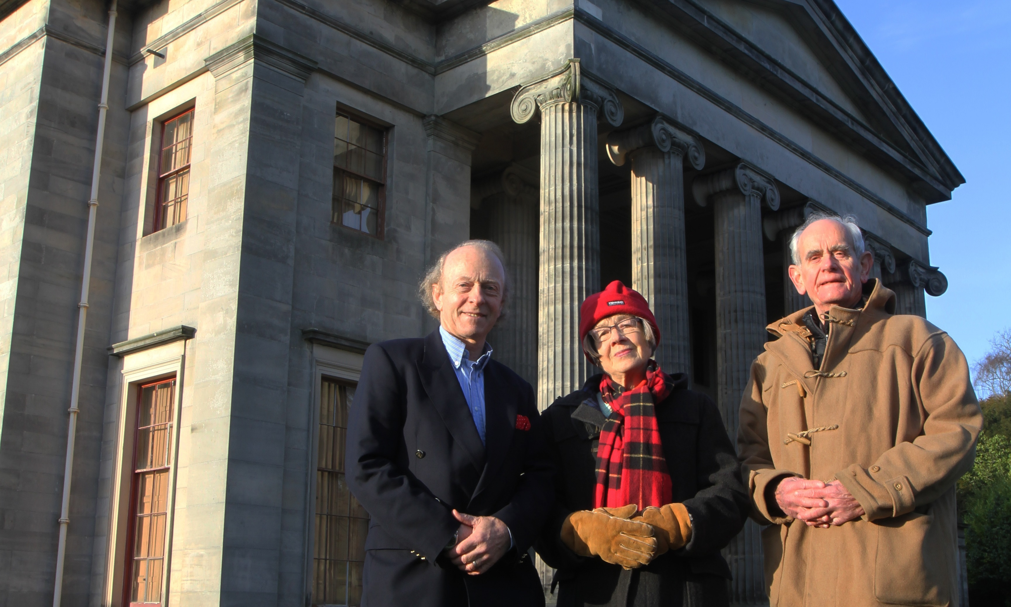 Captain James Crawford with fellow campaigners Elizabeth Picton and Commander John Picton.
