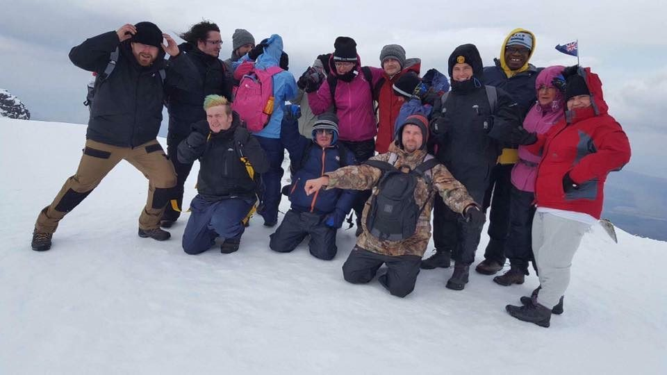 The group at the top of Ben Nevis