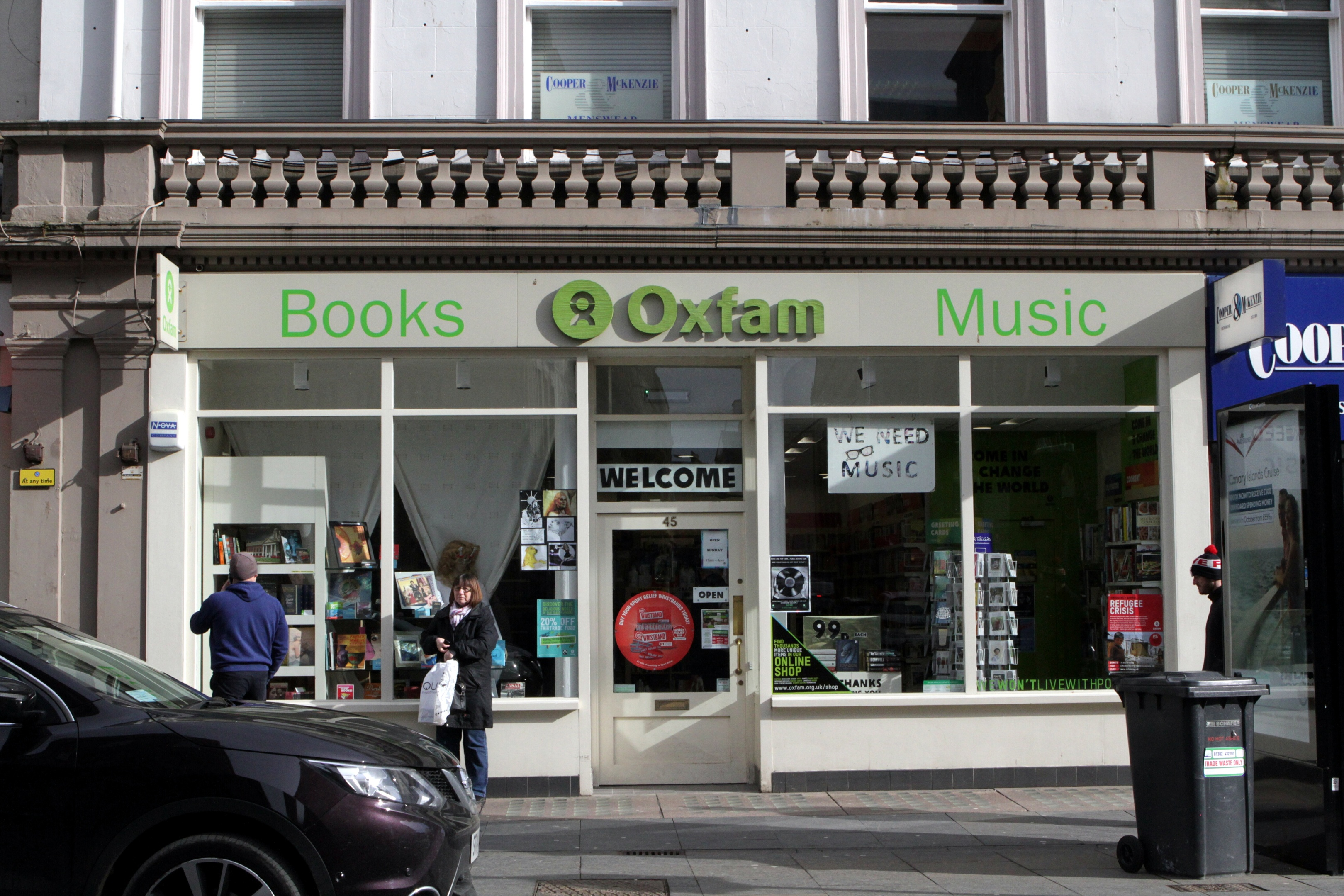 The Oxfam shop on Dundee's Reform Street
