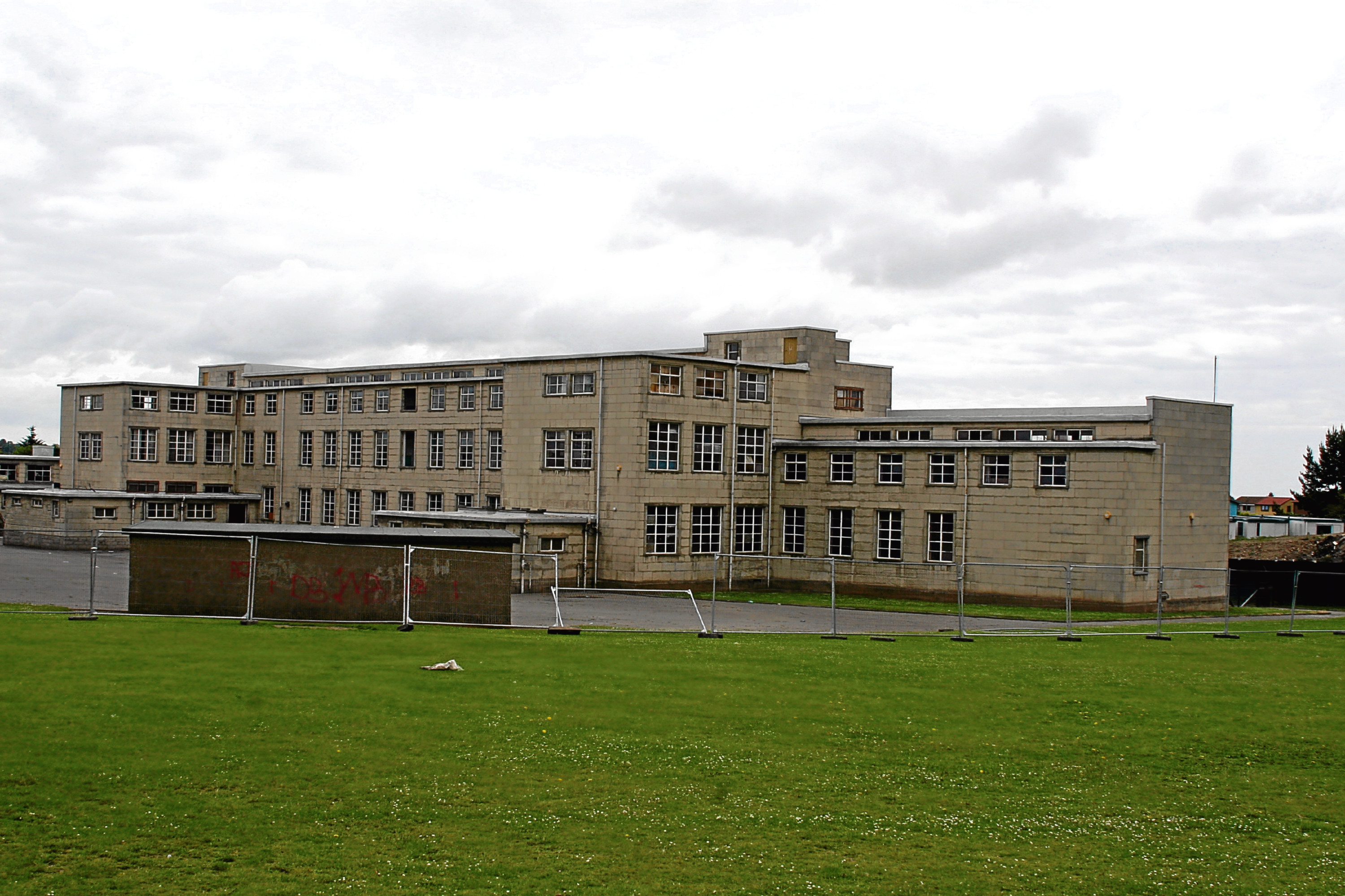 Macalpine Primary School, pictured following its closure in 2008, when it became a target for vandals.