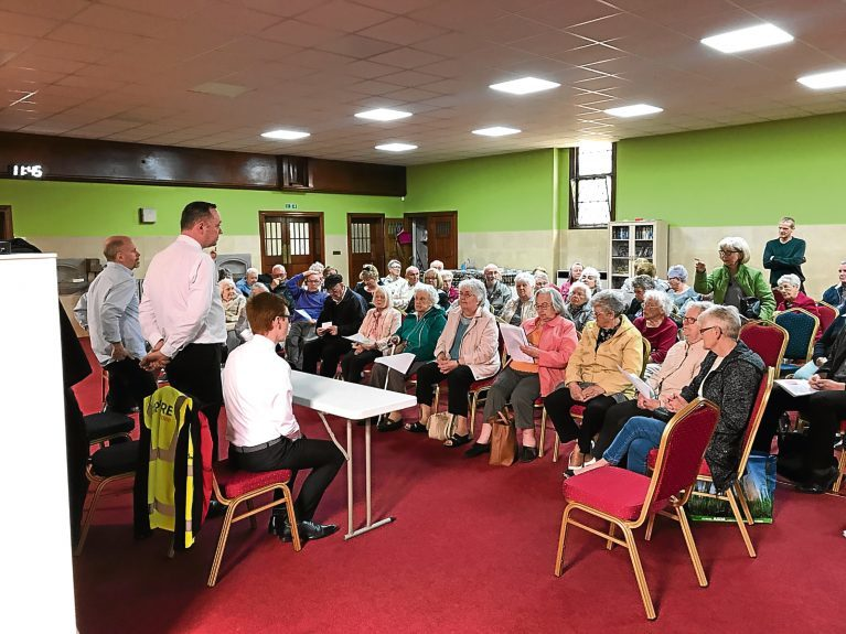 A number of residents attended the public meeting