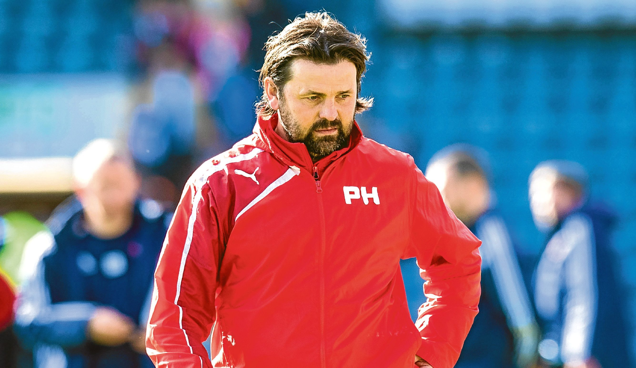 Paul Hartley pictured during his time as manager of Dundee FC.