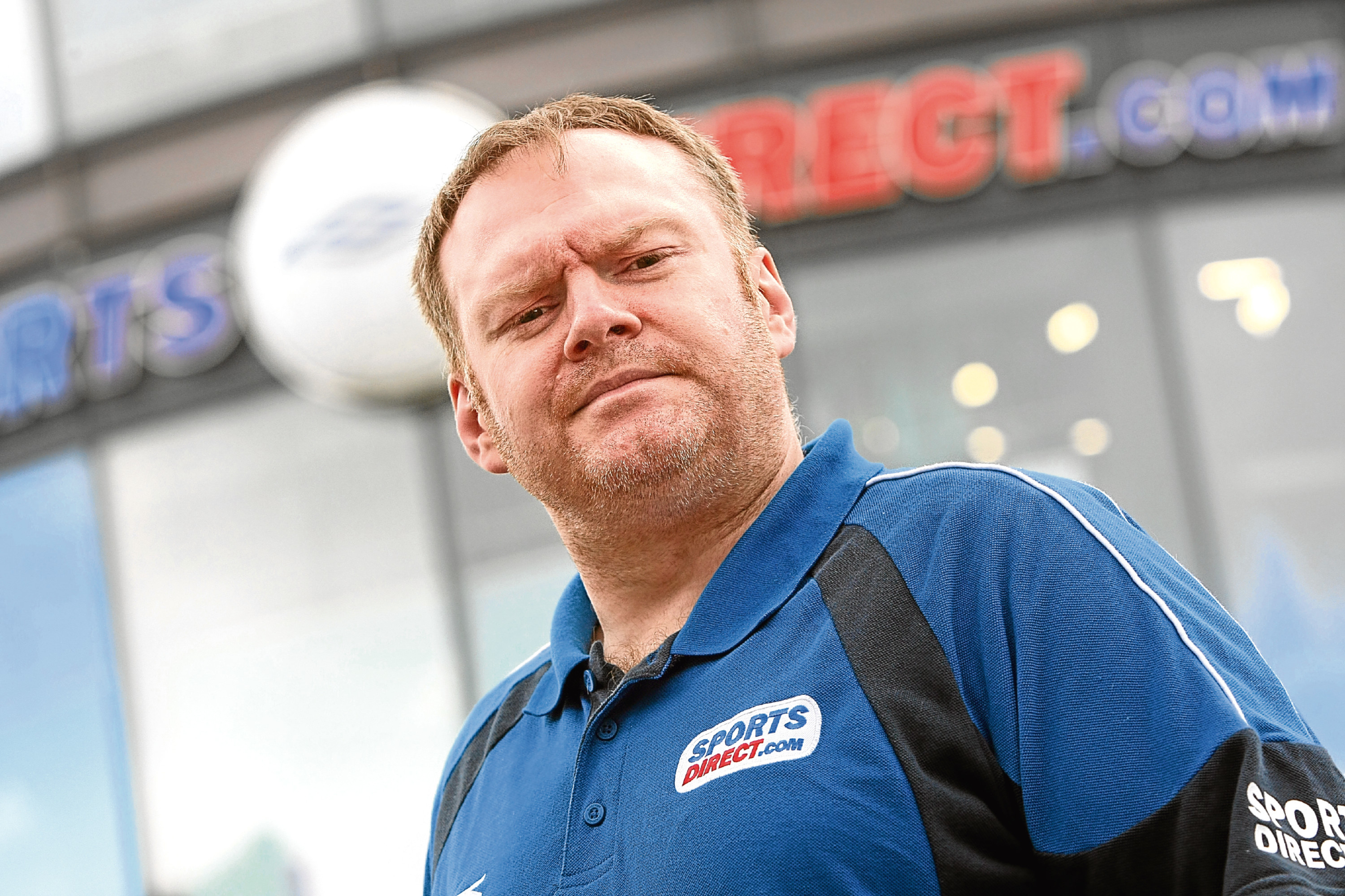"Sports Direct employee Simon Johnston described the charges that were brought against him as a ""joke""."