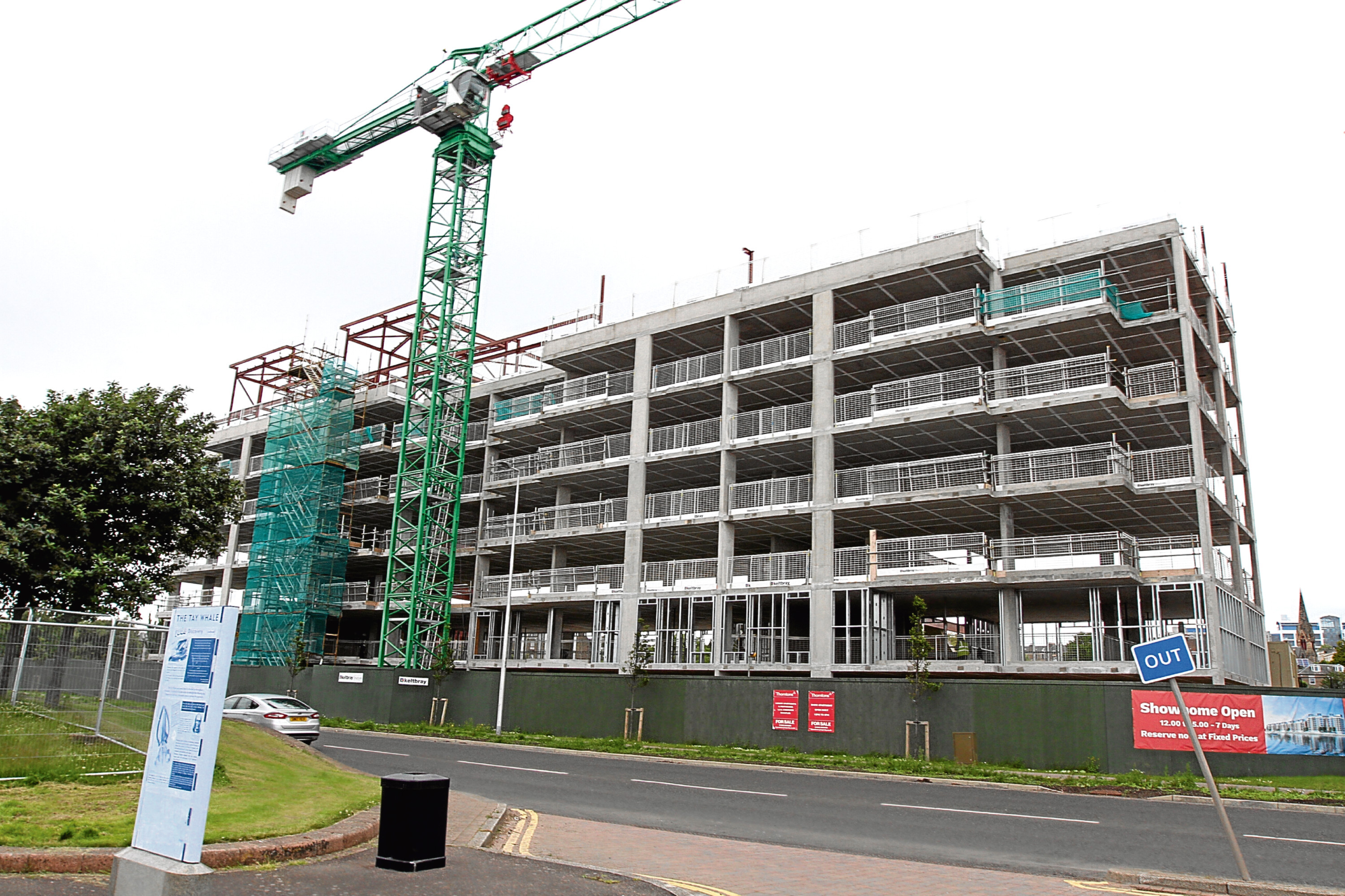 The luxury flats being built at Riverside Drive by developer H&H Properties.