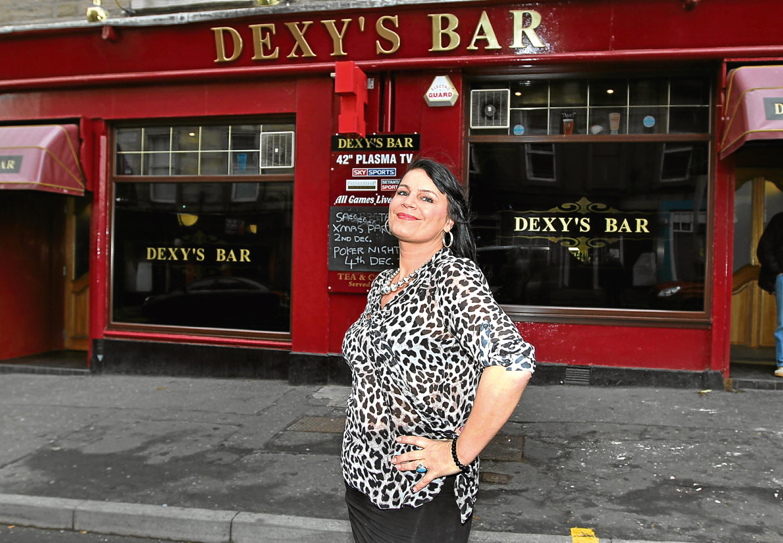 Ashley Fairfield at Dexy's Bar in Arbroath Road.