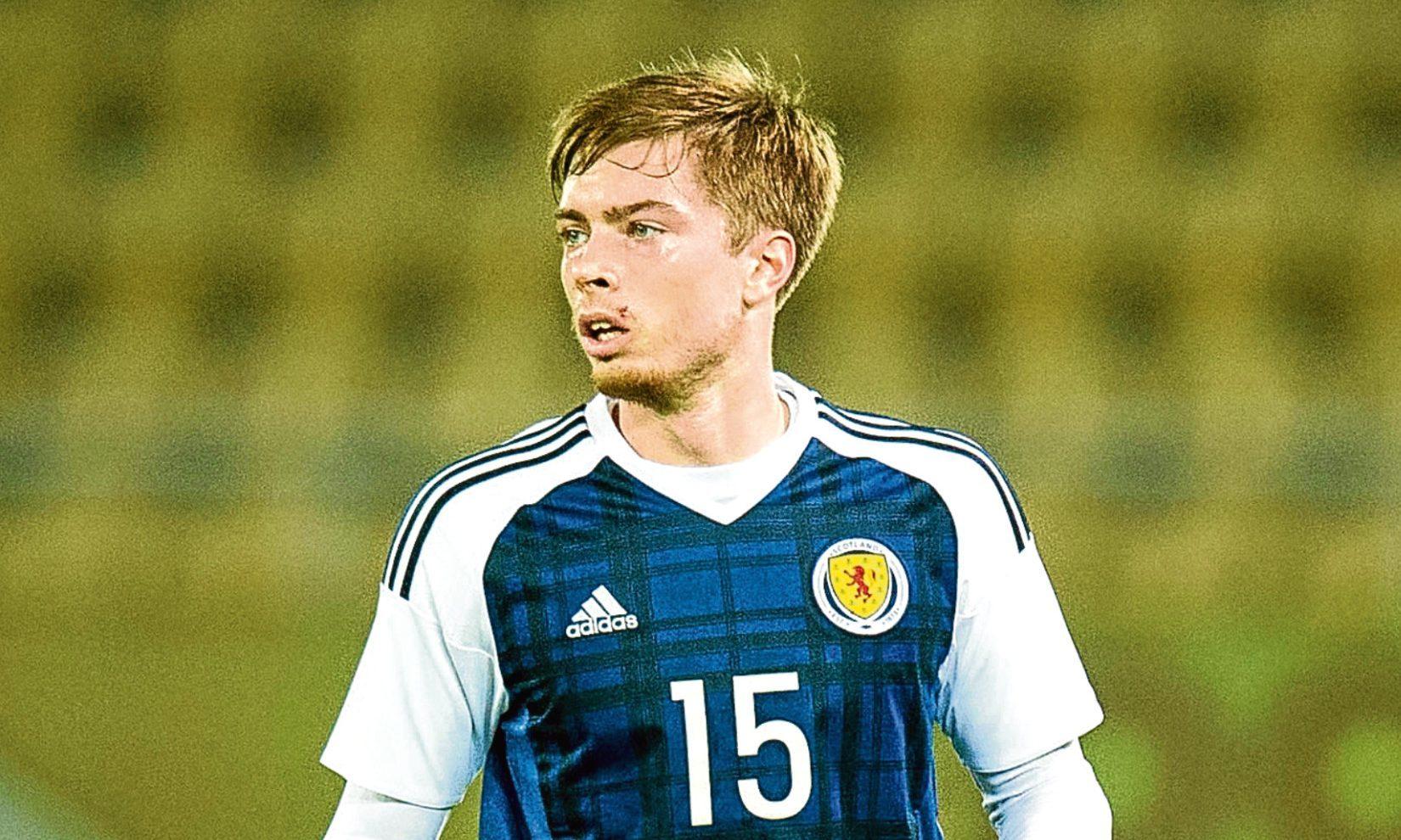 Craig Wighton in action for Scotland
