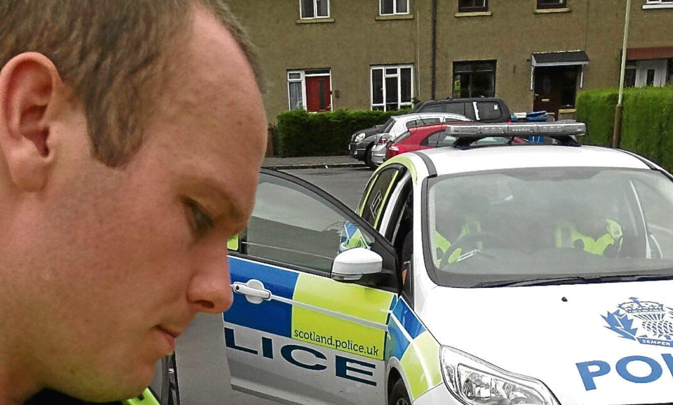 Police during a raid